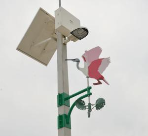 wind operated bird artwork for parking lighting