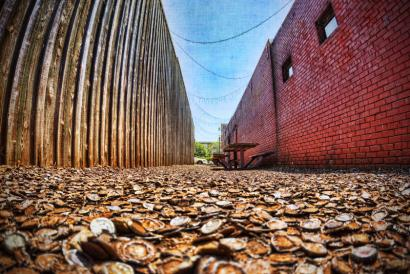 Bottle Cap Alley in the Northgate District