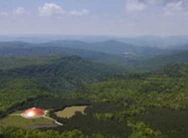 Aerial view of Isha Foundation