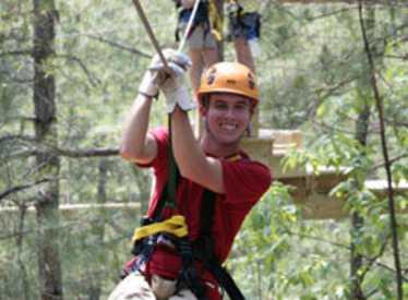 Zipline at Wildwater Adventure Center