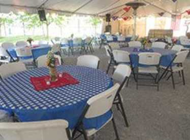 Event under tent at Chattanooga Zoo