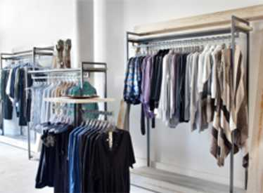 Interior clothing store