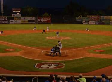 Action from Home Plate