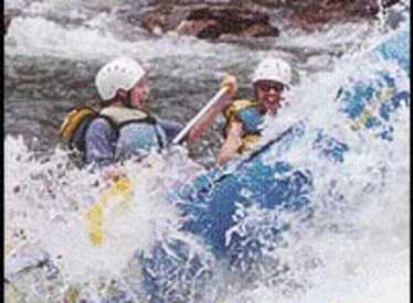 Two guys in rapids