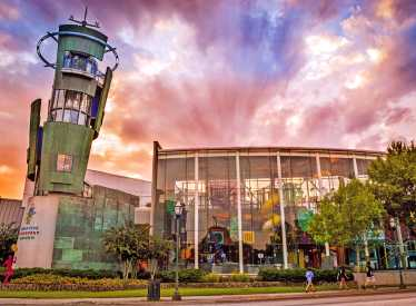 CDM building_sunset