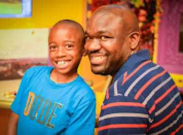 Dad and son at Creative Discovery Museum
