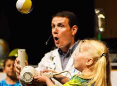 Scientist with kids