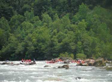 Outdoor adventure rafting