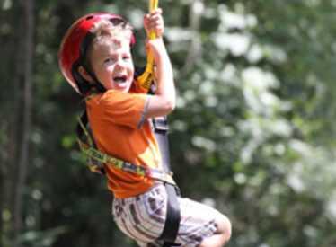 Child ziplining
