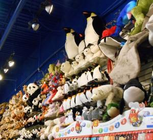 Look at all the toy animals at Inside Scoop!