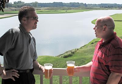 Drinks after a round of golf