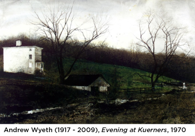 Andrew Wyeth Painting with Caption