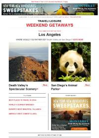 Digital Ads: Weekend Getaway Eblast