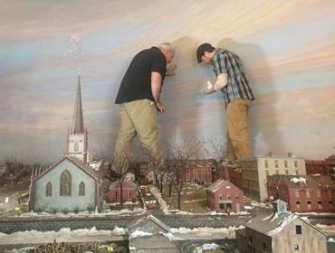 Rochester in 1838 Diorama Live Restoration