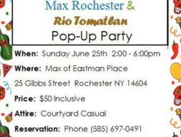 Max Rochester & Rio Tomatlan Pop- Up Party