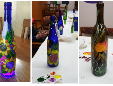 "Roc Paint Sip ""Wine Bottles""   at Via Girasole Wine Bar"