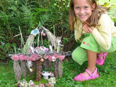 Corn Hill Fairy House Display