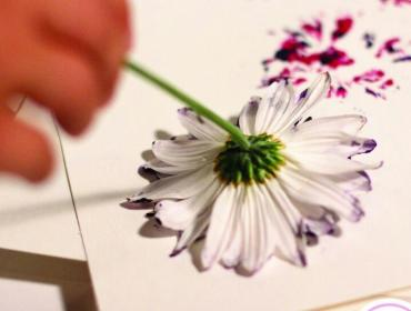 Make Your Own Flower Printed Notebook