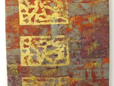 Make Your Own Gold Shibori Wall Hanging