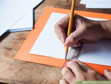 Sketch Book Making + Drawing Prompt