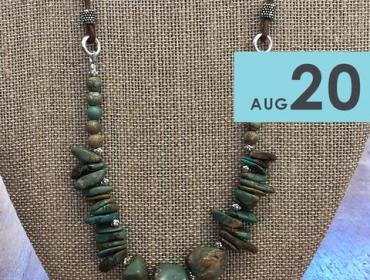 Visit the Southwest: Turquoise and Leather Necklace