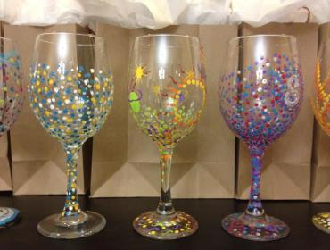 Open Wine Glass Painting