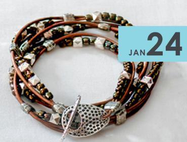 Make Your Own Triple Wrap Leather Bracelet