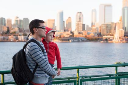 Family on Seattle Ferry