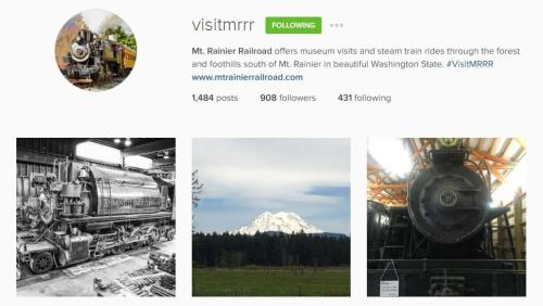 Mt. Rainier Railroad Instagram