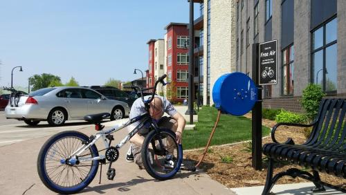 Bike Station at JAMF in Eau Claire, Wisconsin