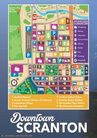 Downtown Scranton Map