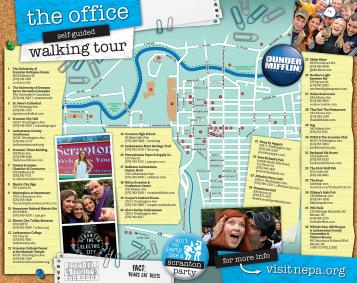 The Office Walking Tour Map