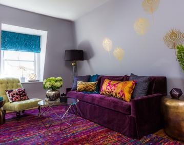 Purple Living Area