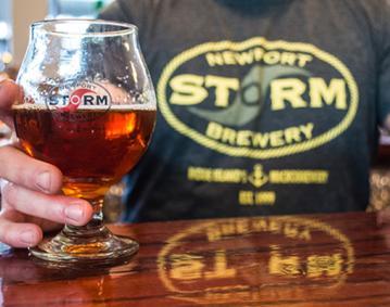 NewportStormBeerGlass