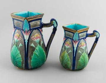 https://res.cloudinary.com/simpleview/image/upload/crm/newportri/Majolica-pitchers-c.1877.-Collection-of-The-Preservation-Society-of-Newport-County_e5489cc6-5056-b3a8-495de4c7ca96eb80.jpg