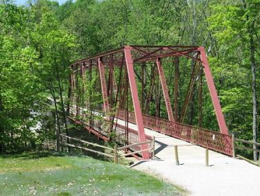 McCloud Nature Park historic iron truss bridge