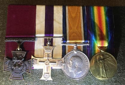 Medals on display at Royal Canadian Artillery Museum on CFB Shilo, Manitoba