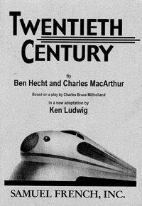 Hendricks Civic Theater will present Twentieth Century at Play'nfield in the Park.