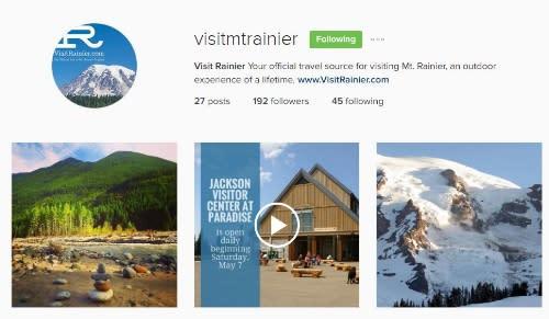 Visit Rainier Instagram