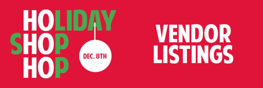 Shop Hop Vendor Listings