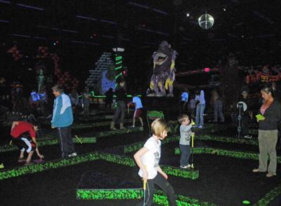 Monster Mini Golf inside