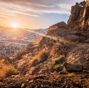 Golden Cliffs Sunset