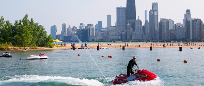 Jet Skiing on North Avenue Beach ©Adam Alexander Photography