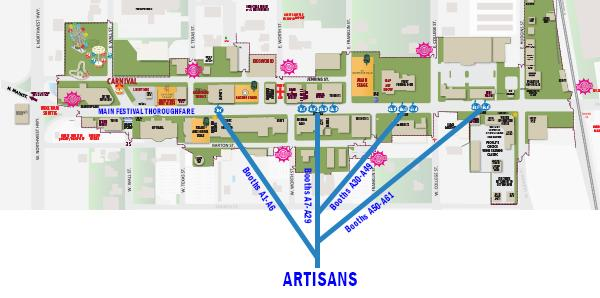 GrapeFest Artisan Map