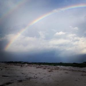Rainbow over Sea Island
