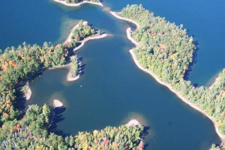 Lake Minocqua Aerial lake view