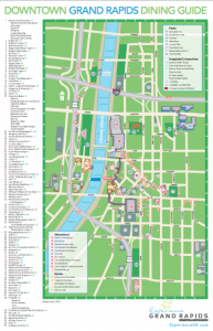 Downtown Grand Rapids restaurants map