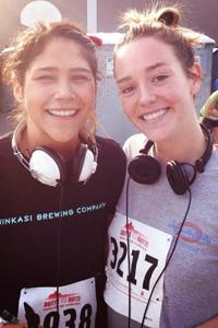 Before the race in 2012 with Anica Macias (left) and myself