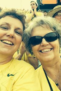 Nothing makes Juanita smile more than being at a University of Oregon Duck's football game