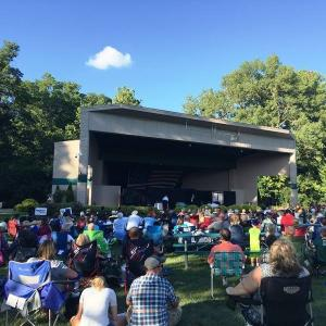 The amphitheater lawn seats 1500 people!